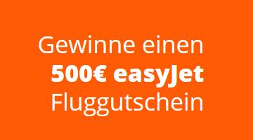 500 Euro easyJet Gewinnspiel