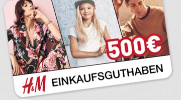 H&M 500 Euro Gewinnspiel