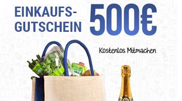 500 Euro Einkaufsgutschein Gewinnspiel