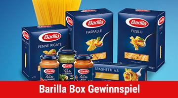 Barilla Box Gewinnspiel