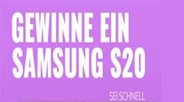 Samsung S20 Gewinnspiel DE